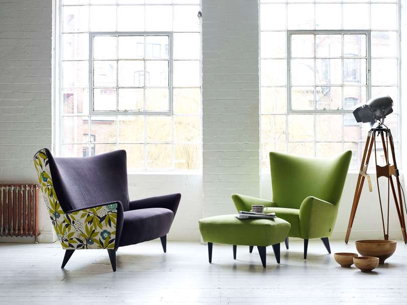 Салатное кресло и кресло с цветами