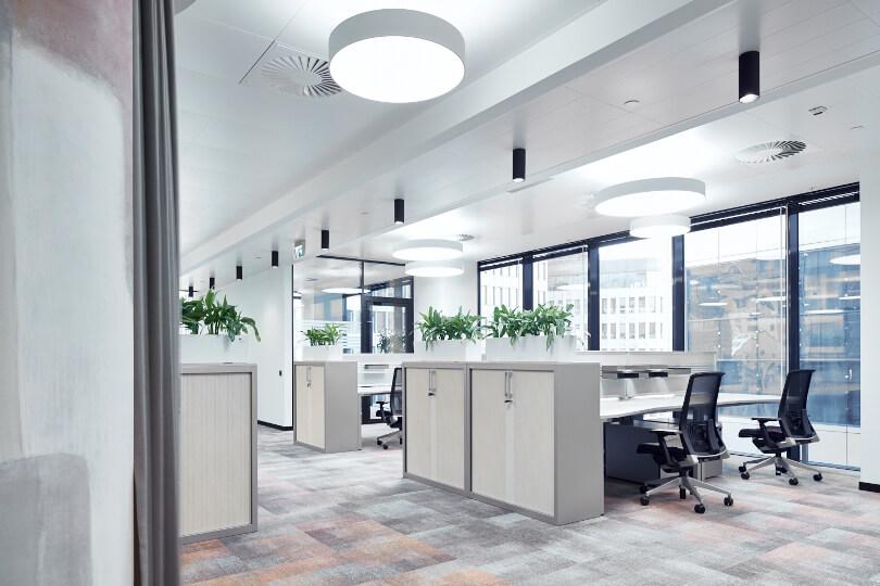 Рабочий кабинет с цветами