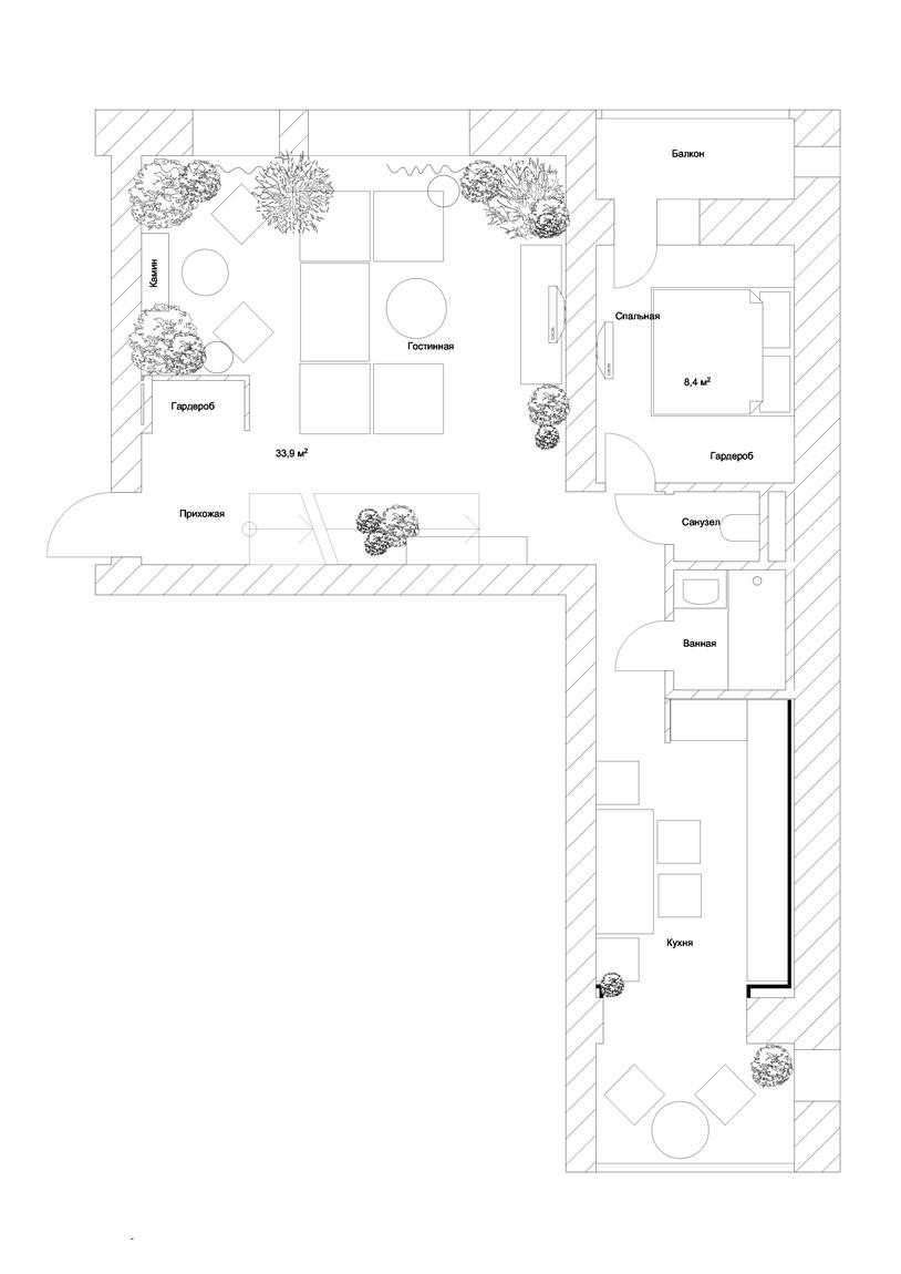 План квартиры Саранина Артемия
