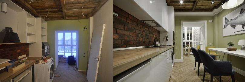 Мебель в кухне: до и после