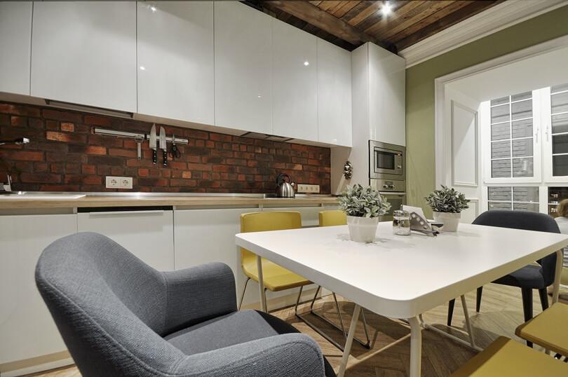 Белый кухонный стол