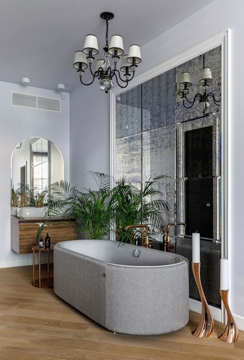 Серая ванная