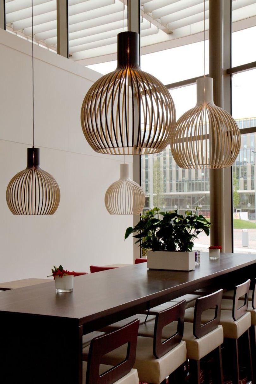 Светильники над столом