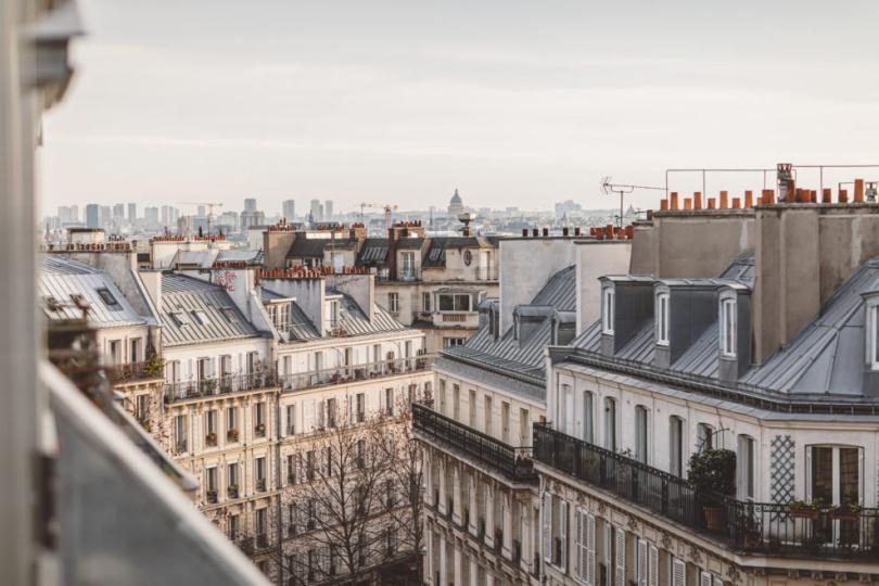 Крыши домов в Париже