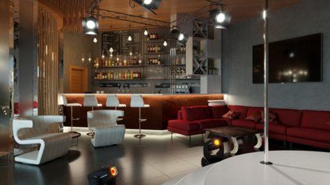 Бордовый угловой диван