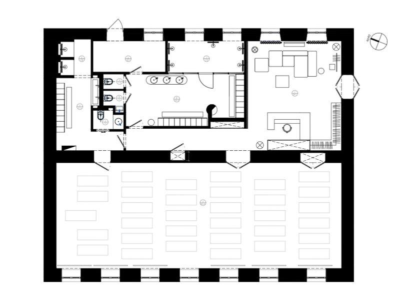План помещения студии Hot Yoga 36