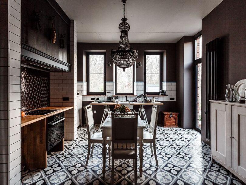 Люстра над кухонным столом