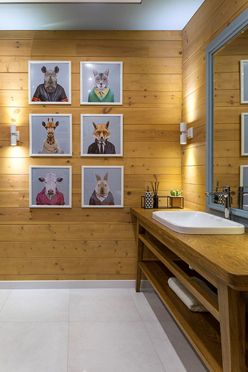 Картины животных в ванной