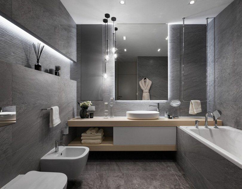Ванная с подсветкой